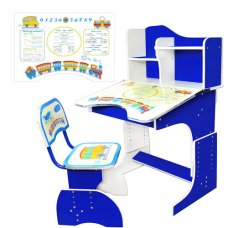Детская парта со стульчиком Растишка, HB 2071-01-7 синяя