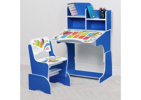 Детская парта-трансформер со стульчиком Школа W 2071-105-1 синий
