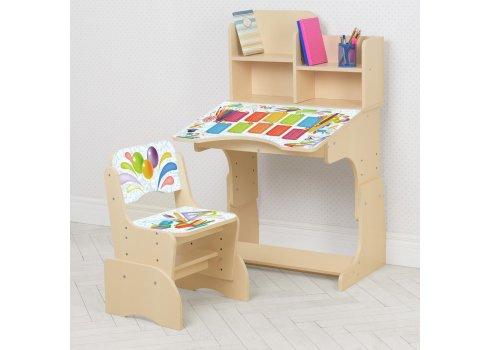 Детская парта-трансформер со стульчиком Школа W 2071-105-2 венге