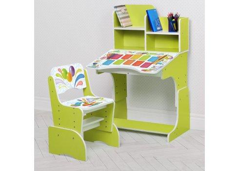 Детская парта-трансформер со стульчиком Школа W 2071-105-3 зеленый