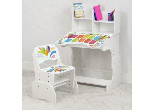 Детская парта-трансформер со стульчиком Школа W 2071-105-5 белый