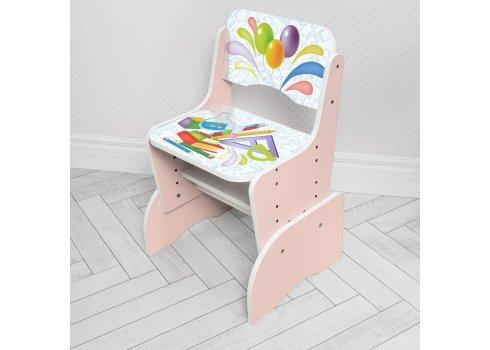 Детская парта-трансформер со стульчиком Школа W 2071-105-7 розовый