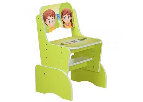Детская парта-трансформер со стульчиком Алфавит, B 2071-16 салатовый