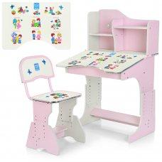 Детская парта со стульчиком Растишка, HB-2071(2)-04-7 розовый