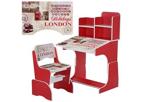 Детская парта-трансформер со стульчиком Лондон, B 2071-25 красный