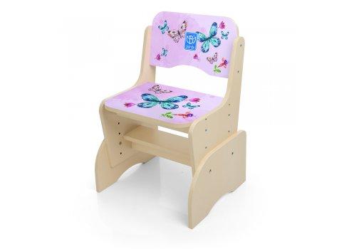 Детская парта-трансформер со стульчиком Бабочки, B 2071-38-6 венге