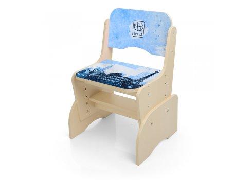 Детская парта-трансформер со стульчиком Достопримечательности, B 2071-40-3 венге