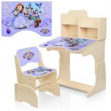 Детская парта-трансформер со стульчиком Принцесса София, W 2071-40-5 венге