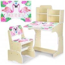 Детская парта-трансформер со стульчиком Фламинго, B 2071-41-2