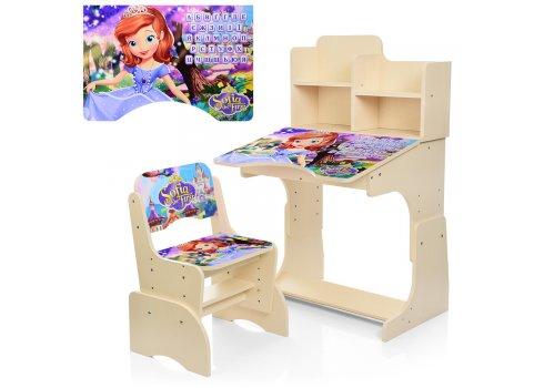 Детская парта-трансформер со стульчиком София Прекрасная Bambi W 2071-41-4(UA) венге