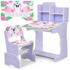 Детская парта-трансформер со стульчиком Фламинго, B 2071-41-5 сиреневый