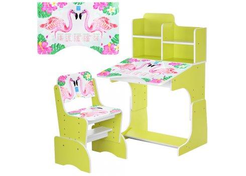 Детская парта-трансформер со стульчиком Фламинго, B 2071-41-6 салатовый