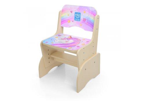 Детская парта-трансформер со стульчиком Единорог Bambi B 2071-42-7(RU)