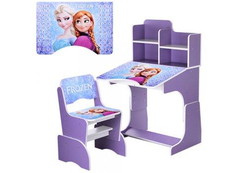 Детская парта-трансформер со стульчиком Frozen Холодное сердце Bambi W 2071-43-2 фиолетовый