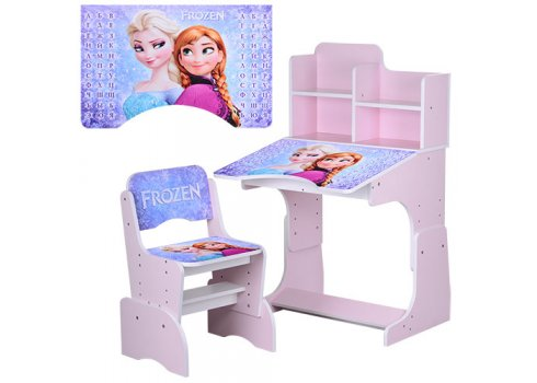 Детская парта-трансформер со стульчиком Frozen Холодное сердце W 2071-43-3 розовый