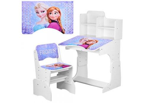 Детская парта-трансформер со стульчиком Frozen Холодное сердце W 2071-43-5 белый