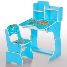Детская парта-трансформер со стульчиком География, B 2071-45-2 голубой
