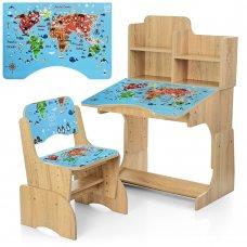 Детская парта-трансформер со стульчиком География, B 2071-45-3 дерево