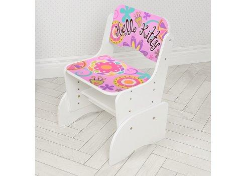 Детская парта-трансформер со стульчиком Hello Kitty Bambi W 2071-48-1(UA) белый