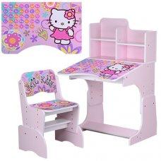 Детская парта-трансформер со стульчиком Hello Kitty, W 2071-48-3 розовая