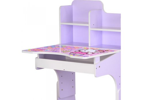 Детская парта-трансформер со стульчиком Hello Kitty, WL 2071-48-4 сиреневый