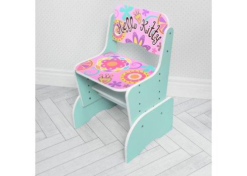 Детская парта-трансформер со стульчиком Hello Kitty Bambi W 2071-48-5(UA) мятный