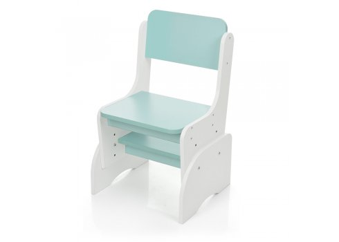 Детская парта-трансформер со стульчиком, FB2071-4 белый с мятой