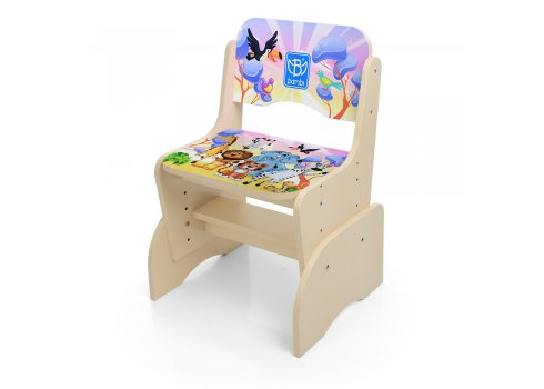 Детская парта-трансформер со стульчиком Алфавит , BL 2071-51-(EN) венге светлый
