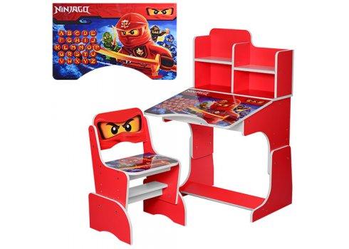 Детская парта-трансформер со стульчиком Ninjago W 2071-52-1 красный