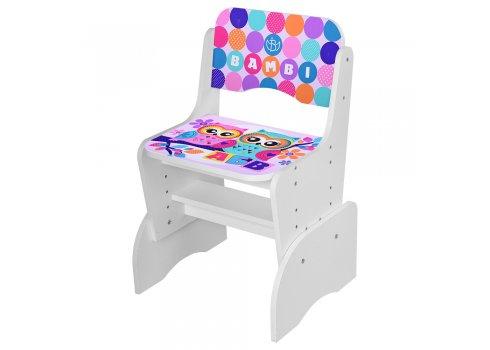 Детская парта-трансформер со стульчиком Совы, B 2071-53-3 белый