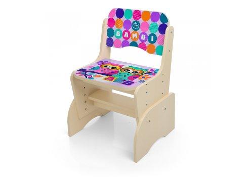 Детская парта-трансформер со стульчиком Совы, B 2071-53-4 венге