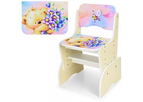 Детская парта-трансформер со стульчиком Мишка Bambi B 2071-54-1(UA) бежевый