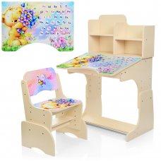 Детская парта-трансформер со стульчиком Мишка Bambi B 2071-54-5 венге