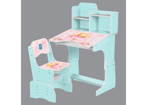Детская парта-трансформер со стульчиком Мишка-балерина, B 2071-55-4