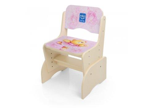 Детская парта-трансформер со стульчиком Мишка-балерина, B 2071-55-7 венге