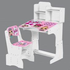 Детская парта-трансформер со стульчиком LOL, W 2071-55-8 белый