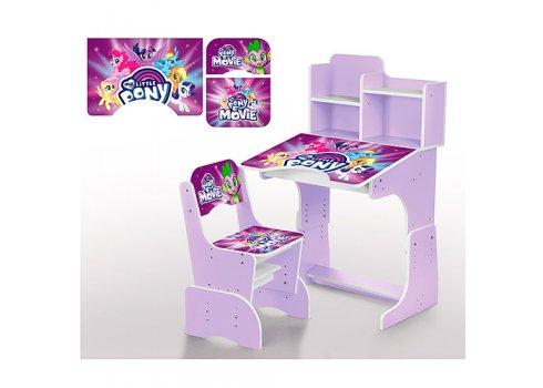 Детская парта-трансформер со стульчиком My Little Pony, W 2071-56-1 сиреневый