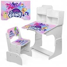 Детская парта-трансформер со стульчиком My little Pony, W 2071-56-5 белая