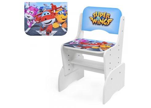 Детская парта-трансформер со стульчиком Супер крылья, W 2071-58-1 белая