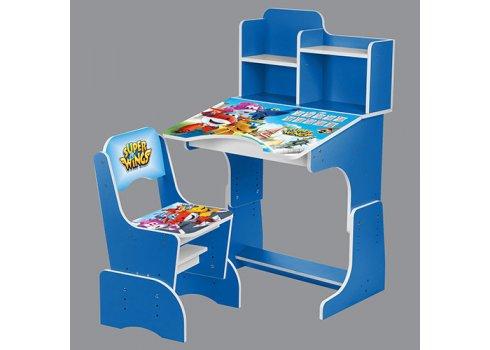 Детская парта-трансформер со стульчиком, W 2071-58-3 синий