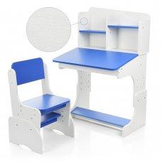 Детская растущая парта со стульчиком Bambi FB2071-5 белый с синим
