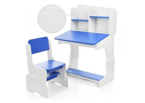 Детская парта-трансформер со стульчиком, FB2071-5 белый с синим