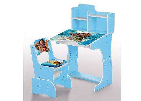 Детская парта-трансформер со стульчиком, W 2071-60-3 голубой