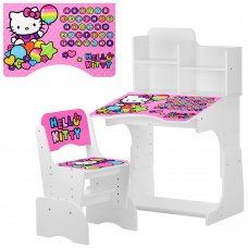 Детская парта-трансформер со стульчиком Hello Kitty W 2071-64-1 белый
