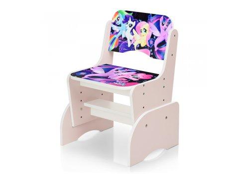 Детская парта-трансформер со стульчиком My Little Pony W 2071-65-2 розовый