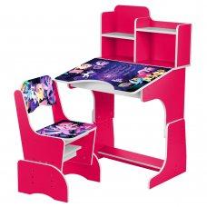 Детская парта-трансформер со стульчиком My Little Pony W 2071-65-3 малиновый