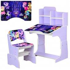 Детская парта-трансформер со стульчиком My Little Pony W 2071-65-5 сиреневая