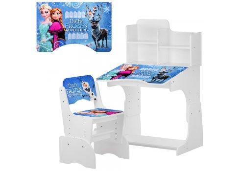 Детская парта-трансформер со стульчиком Frozen W 2071-69-2 белый
