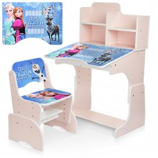 Детская парта-трансформер со стульчиком Frozen W 2071-69-3 розовый