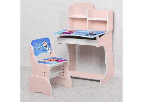 Детская парта-трансформер со стульчиком Frozen Холодное сердце Bambi W 2071-69-3 розовый